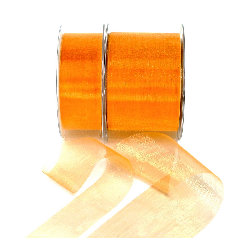 Organza Band orange 45,7 Meter = 50 yard/ Tischband !!!