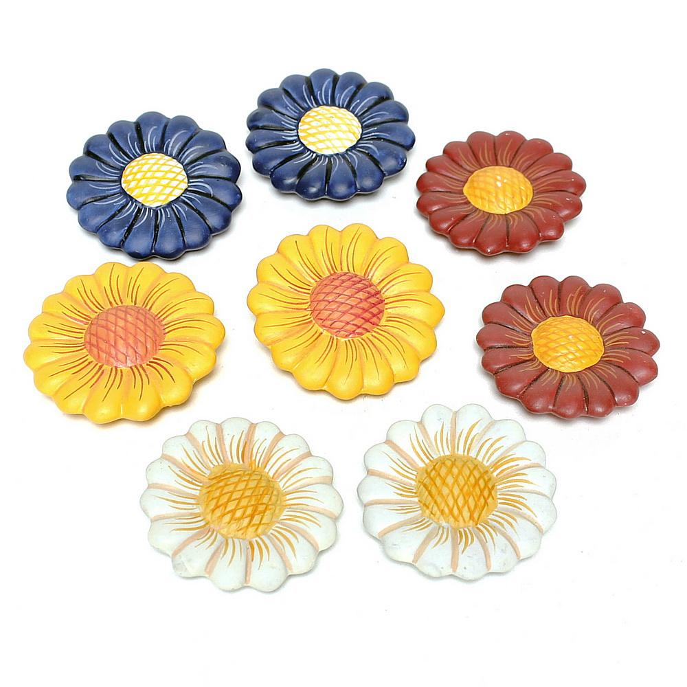 12 x Keramik Blüten, Margeriten 7cm, TOP PREIS !!!