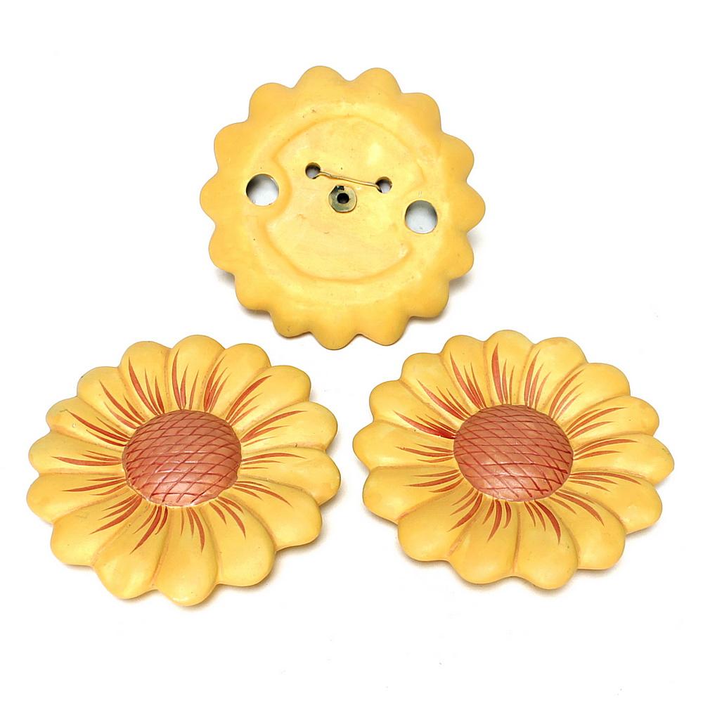 3 x Keramik Blüten 14cm groß, Margeriten gelb, TOP PREIS !!!