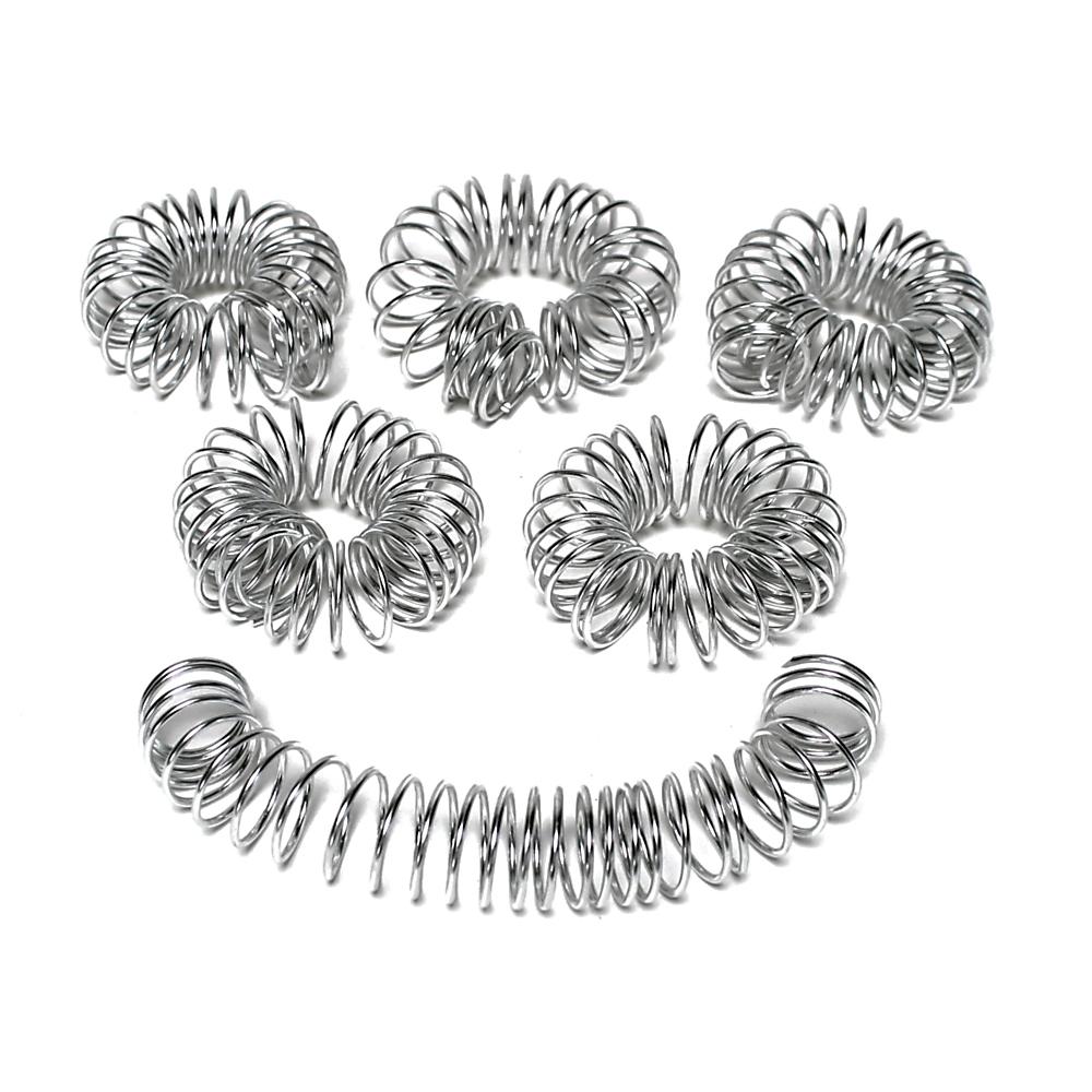 6 x Aludraht Ringe 7,5cm, Spirale, Hochzeit, Draht/ TOP !!!