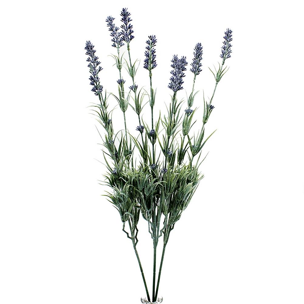 3x Lavendel - Zweige, m. je 3 Rispen, Länge ca. 58cm/ künstlich !!!