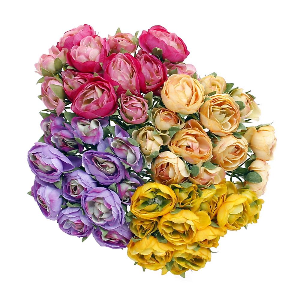 Ranunkel- Busch x12 Blüten, L 23cm, einzelne Stiele, künstlich !!!