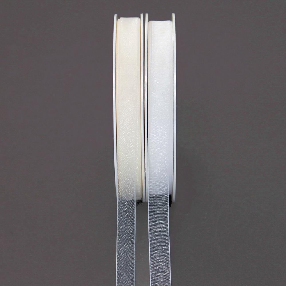 Organzaband matt, (0,12€/Meter) 10mm/ 50 Meter, TOP PREIS !!!