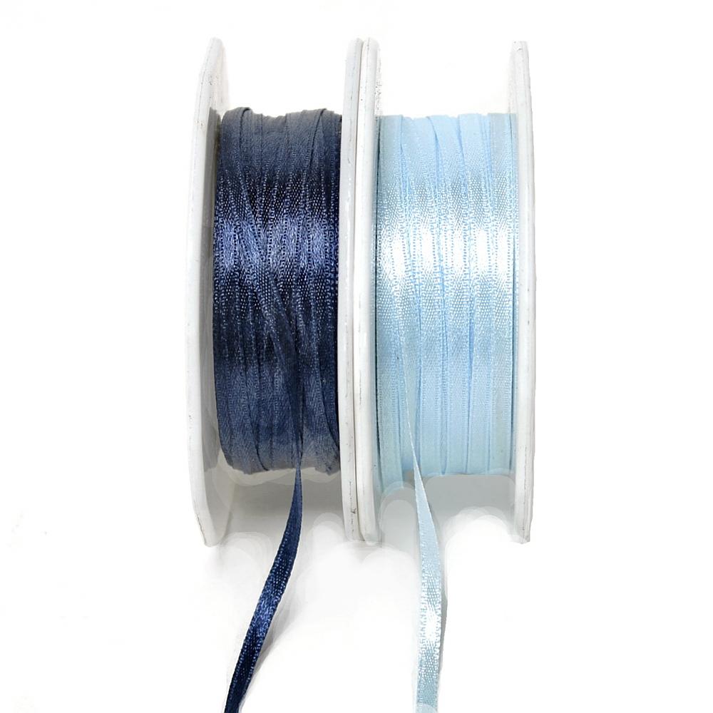 Satinband 3,5mm/ 50 Met. Farbe: 510 d.-blau