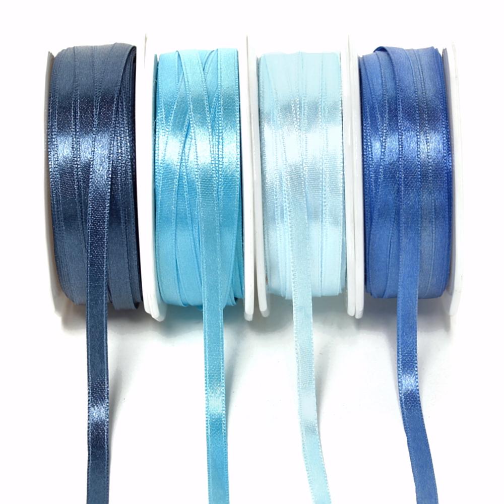 Satinband 6,5mm/ 50 Met. Farbe: 501 h.-blau
