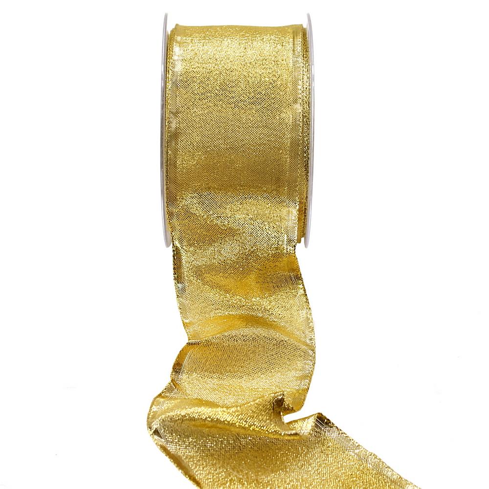 Brokatband gold, 60mm / 25 Met.