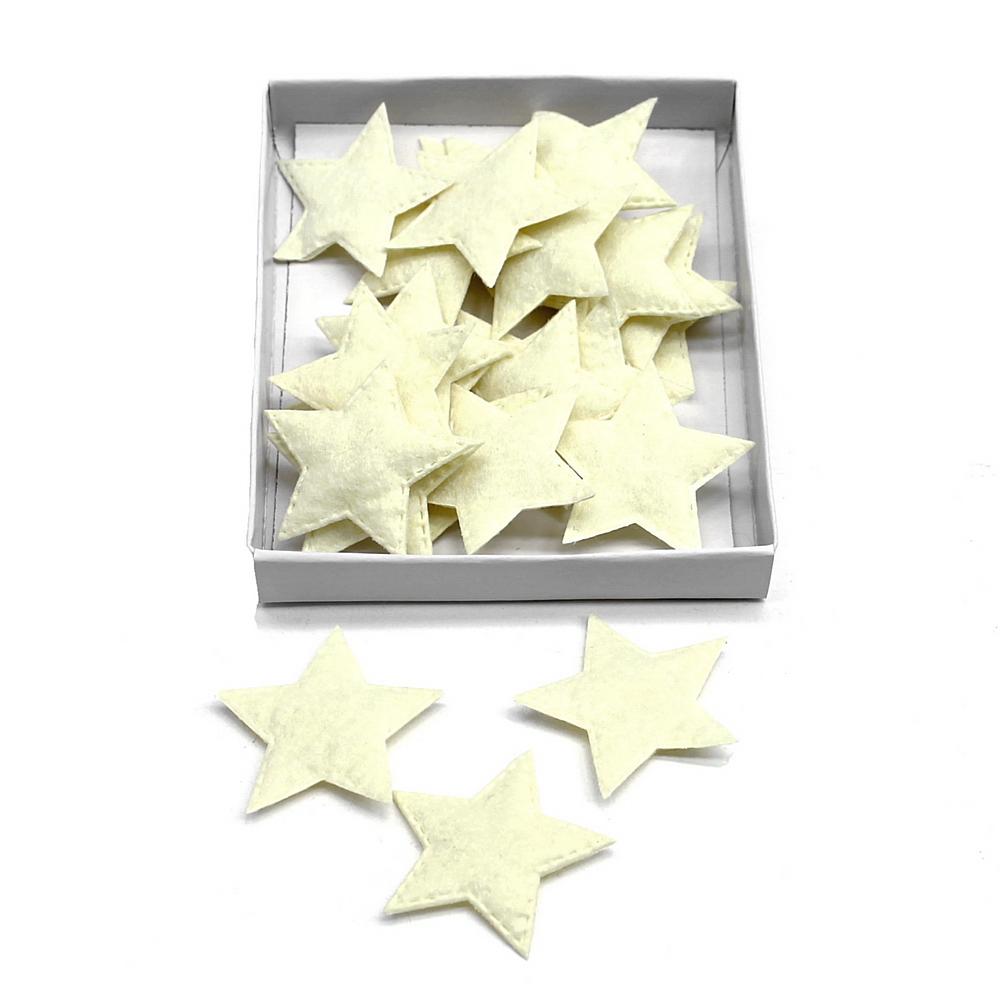 24 St. Filzsterne 5cm, weich, Filz Sterne, Streuartikel, Weihnachten