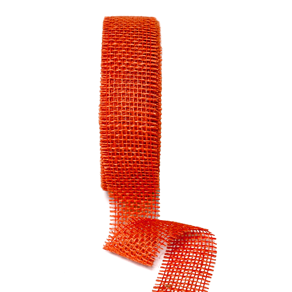 Juteband 40mm - 25 Meter Farbe: orange