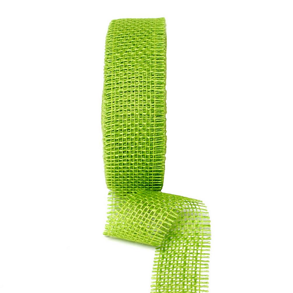 Juteband 40mm - 25 Meter Farbe: h.-grün