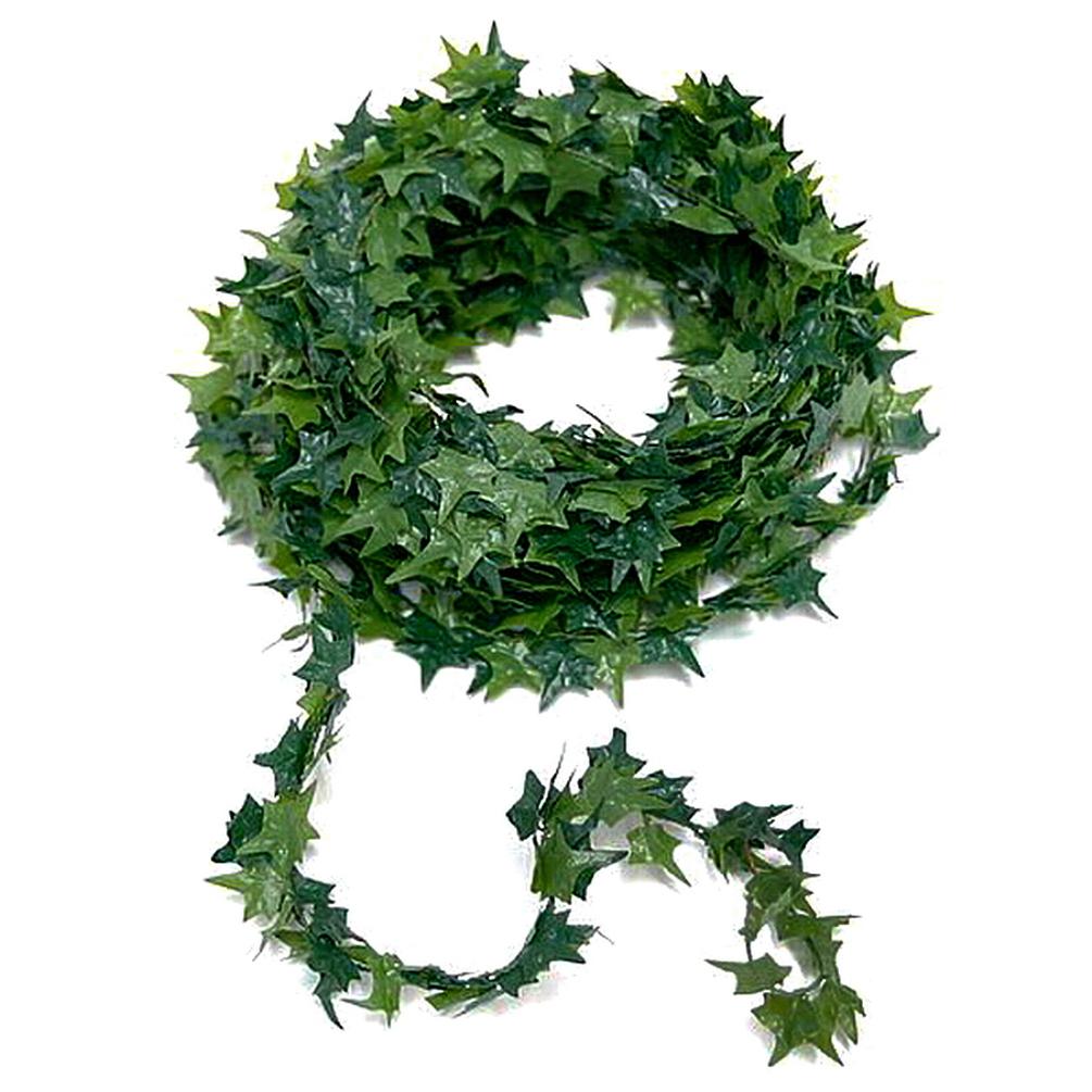 MINI Efeublatt - Girlande künstlich, Efeu 2-ton grün, 7,5 Meter mit Draht