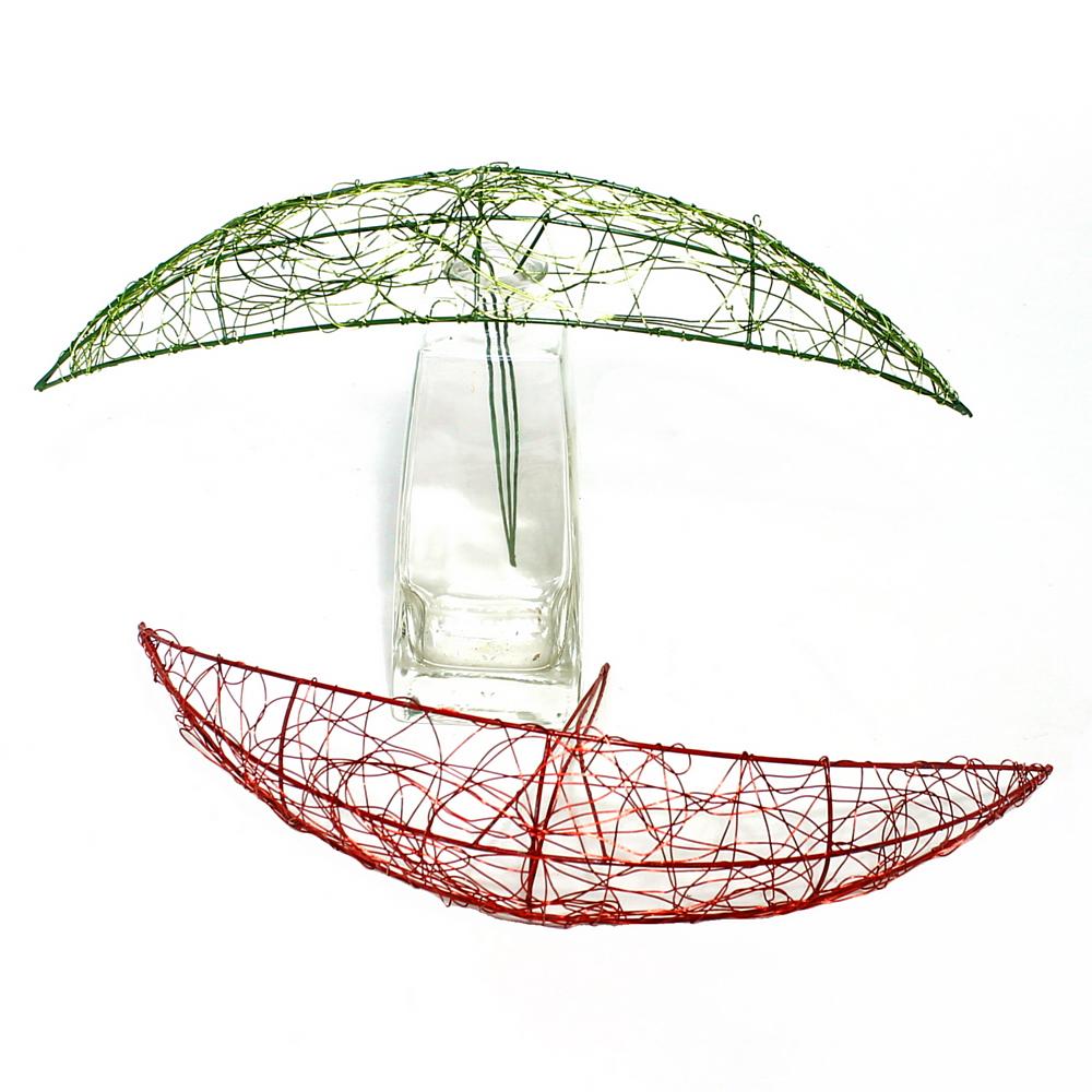 Bogen- Manschette Draht 35cm, Farbe: rot