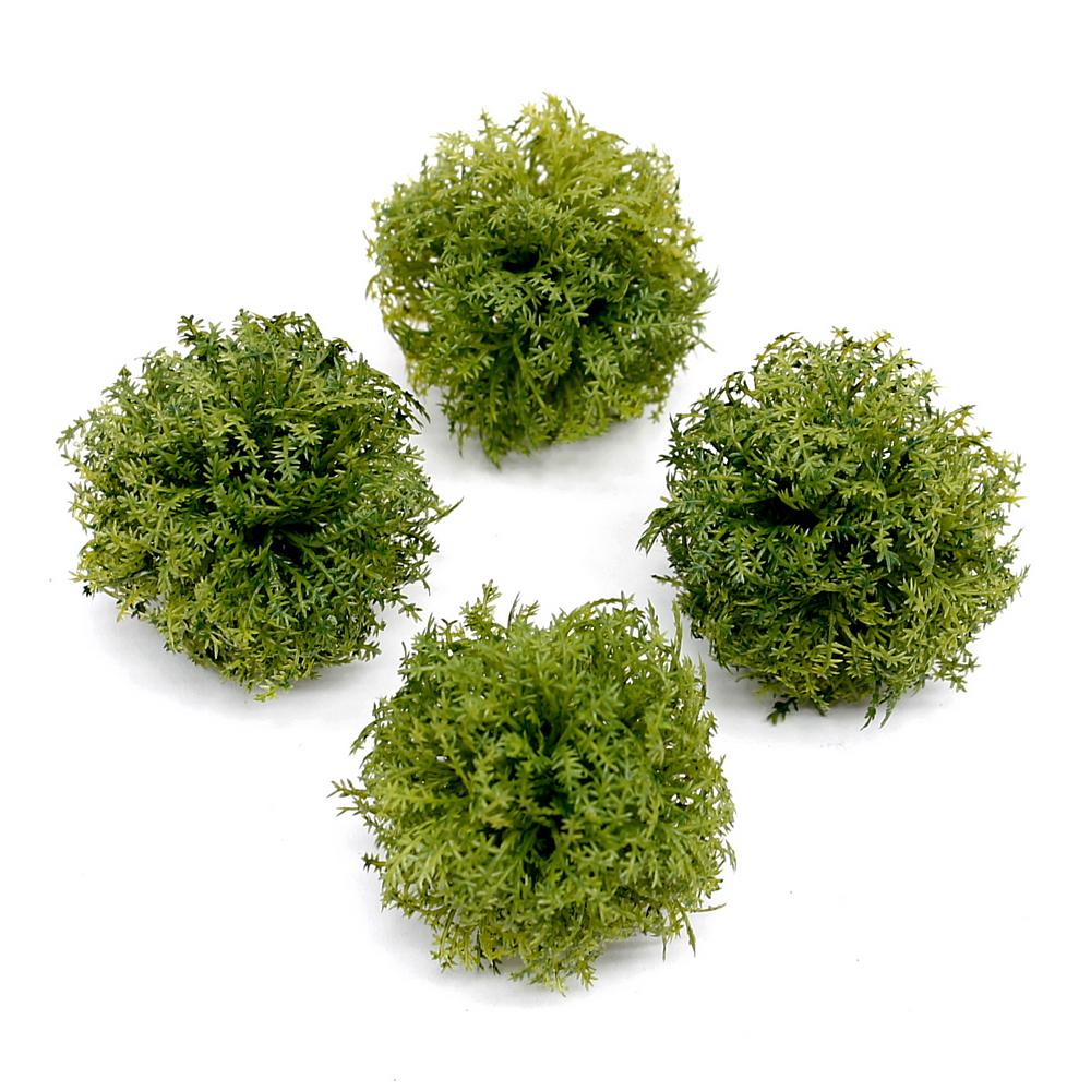 4x Farnball grün 5cm, Kunststoff / TOP DEKOARTIKEL !!!