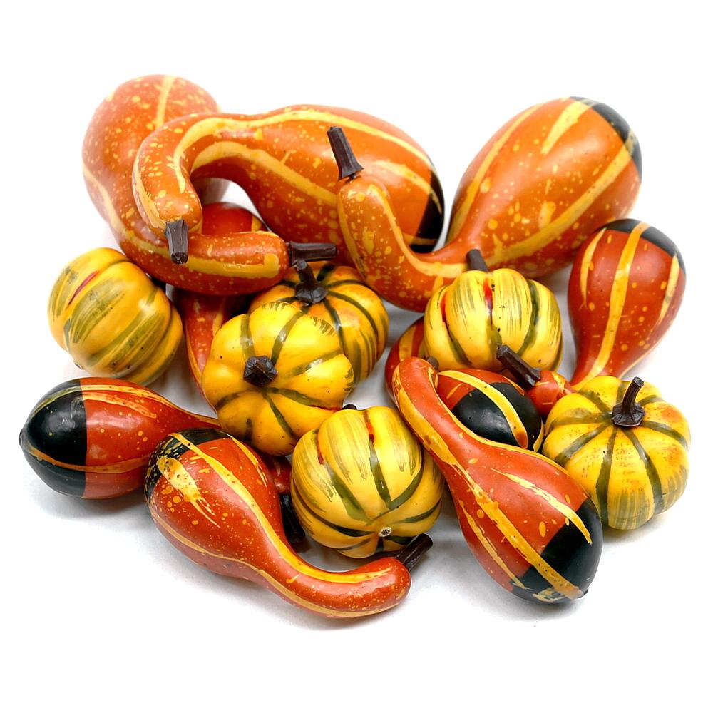Deko Kürbis Sortiment, 15 Stück / 3 Sorten, künstlich, Früchte !!!