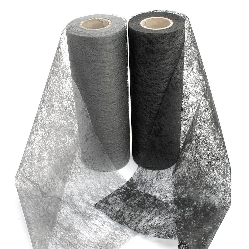Vlies Band, Tischband 23cm - 20 Meter, schwarz/ grau/ TOP Preis !!!