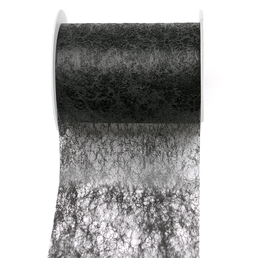 Vlies Band, Tischband 100mm - 20 Meter, div. Farben/ 113 schwarz