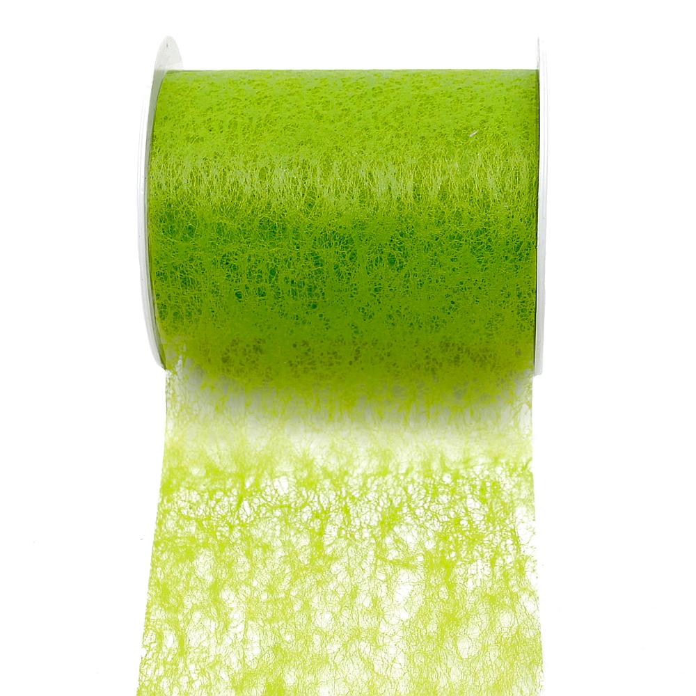 Vlies Band, Tischband 100mm - 20 Meter, div. Farben/ 210 apfelgrün