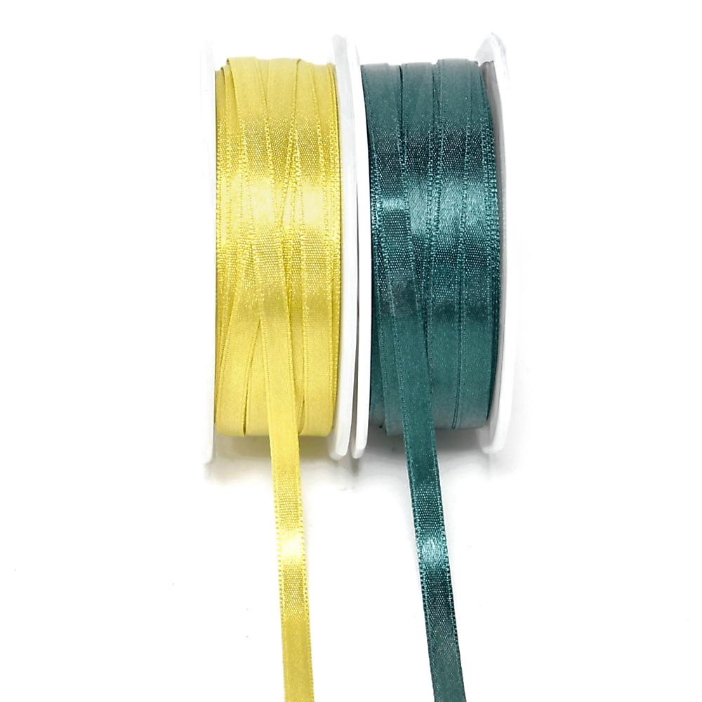 Satinband 6,5mm/ 50 Met. Farbe: 603 h.-grün